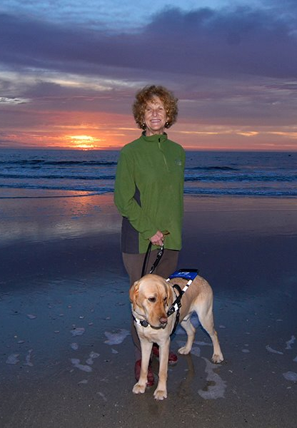 Ann and Monti at sunrise at Hunting Island State Park. Photo by Sparkle Clark.